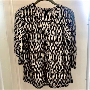H&M black and white womens blouse size small